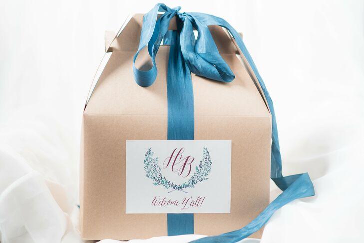 Elegant Monogramed Welcome Kits