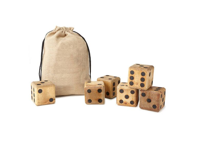 Giant dice outdoor wedding game