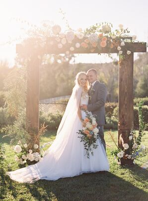 Simple, Romantic Spring Garden Wedding