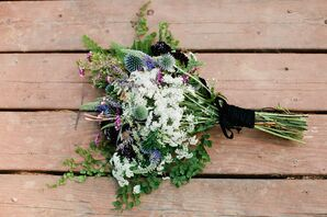 Thistle, Veronica and Wildflower Bouquet