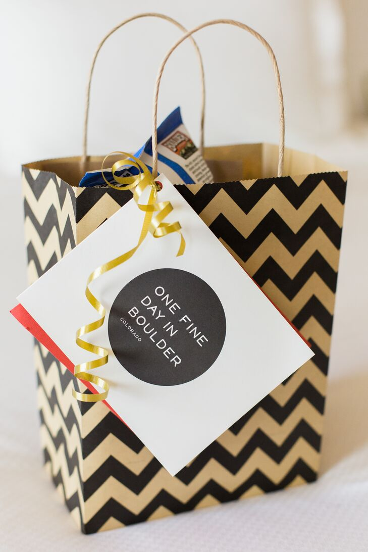 At their hotels, guests were greeted with patterned welcome bags filled with local goodies.