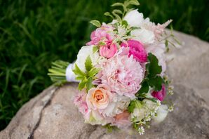 Pink, Peach and Ivory Flower Bouquet