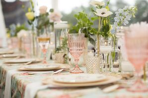 Vintage-Inspired Rose-Colored Glassware