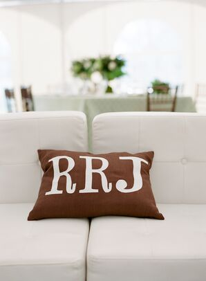 Custom Monogrammed Initial Pillow
