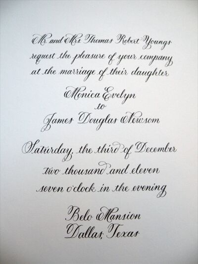 Pretty In Ink Calligraphy