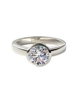 James Allen Unique Round Cut Engagement Ring