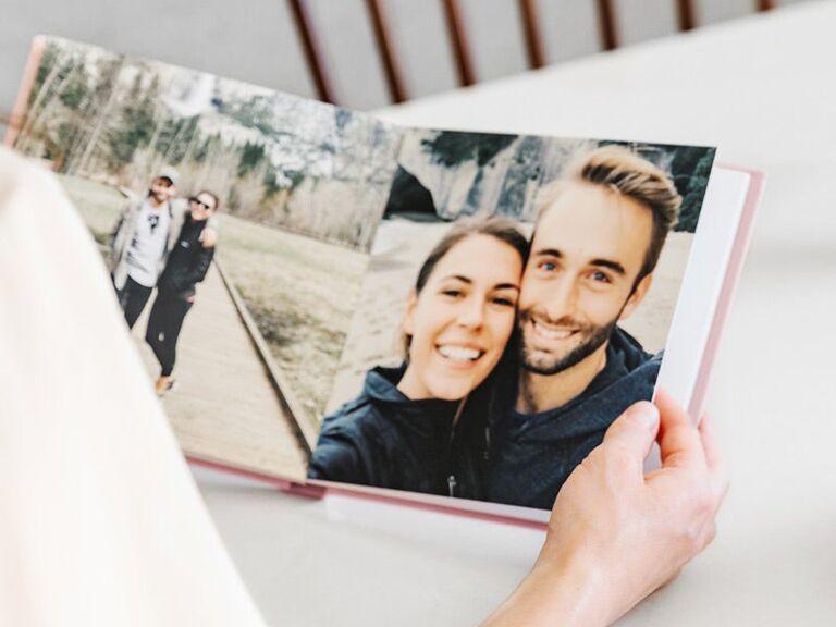 Photo album wedding gift for bride