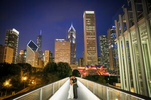 Charcoal Gray Groom's Suit in Chicago