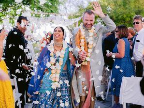Recessional During Wedding at UC Berkeley Stadium in Berkeley, California