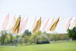 Playful Pink and Gold Tassels