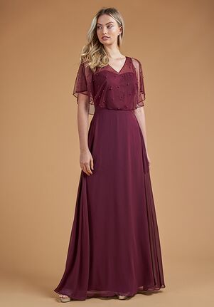 B2 Bridesmaids by Jasmine B223057 V-Neck Bridesmaid Dress