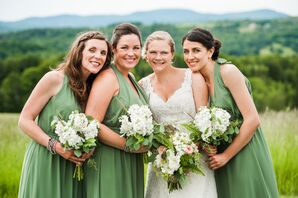 Alfred Angelo Clover Green Chiffon Dresses