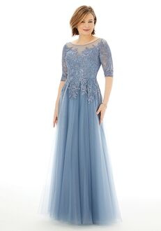 MGNY 72212 Gray Mother Of The Bride Dress