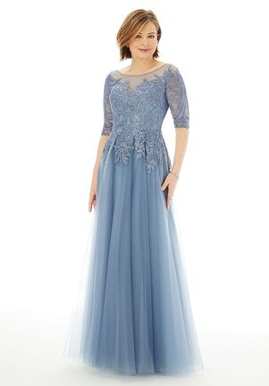MGNY 72212 Gray,Blue Mother Of The Bride Dress
