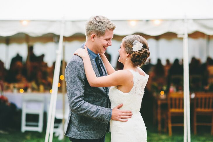 The couple chose A Case of You by James Blake for their first dance.