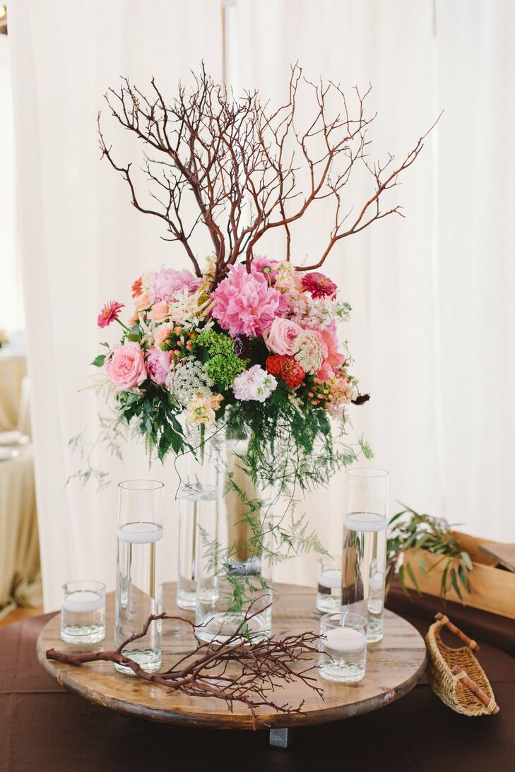 Tall Branch and Floral Centerpiece