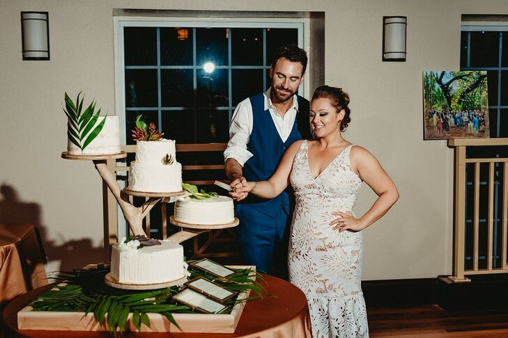 Traditional, Tropical Cake Cutting at Sunken Gardens in  St. Petersburg, Florida