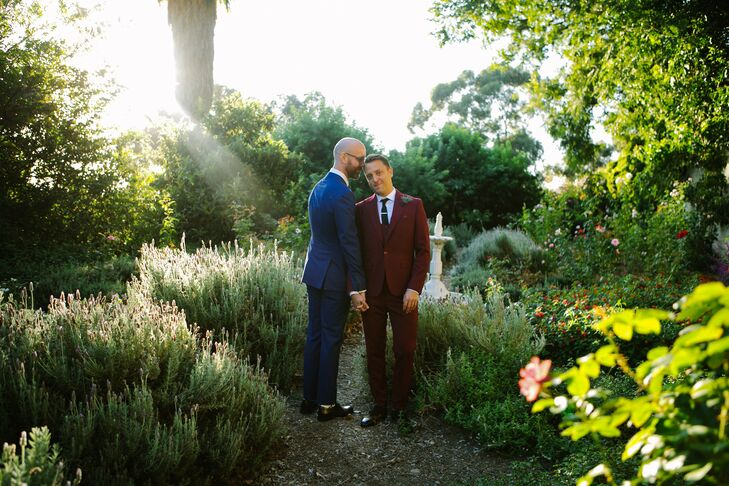 "Tyler and Michael, ""met at a whiskey bar while living in New York, migrated to the City of Angels, reconnected at a farmers market in West Hollywood a"