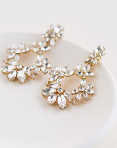 Dareth Colburn Lola Crystal Statement Earrings (JE-4184) Wedding Earring photo