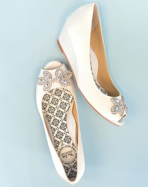 Hey Lady Shoes Twinkletoes Wedgie Silver Shoe