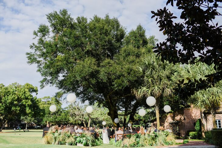 Intimate Outdoor Ceremony Under Oak Tree