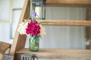 Mason Jar Peony Floral Arrangments