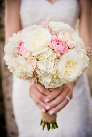 Romantic Pink and Ivory Bridal Bouquet