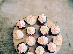 Delicious White and Pink Frosted Cupcakes