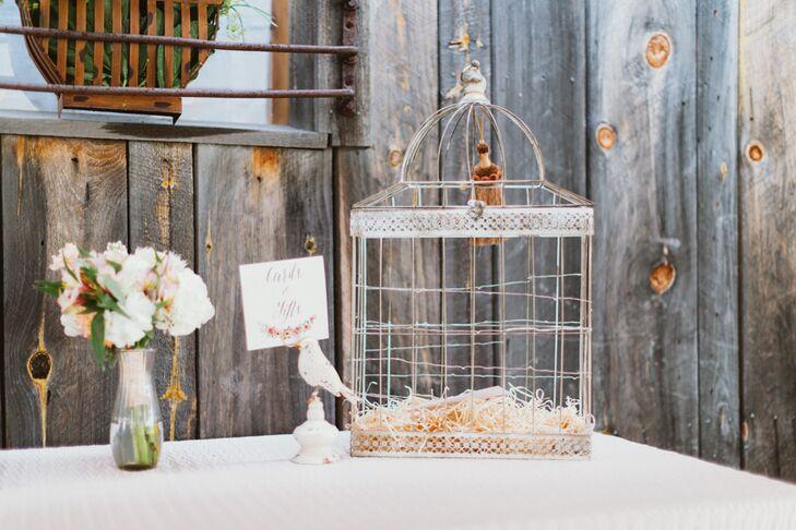 Antique Birdcage Card Box