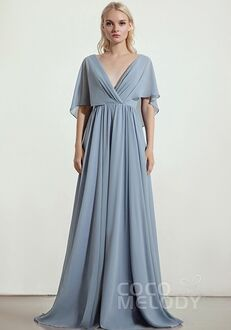 CocoMelody Bridesmaid Dresses RB0330 V-Neck Bridesmaid Dress