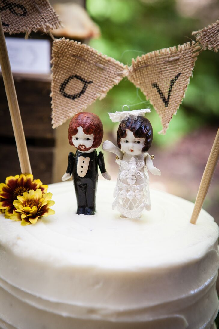 Vintage Inspired Figurine Cake Toppers