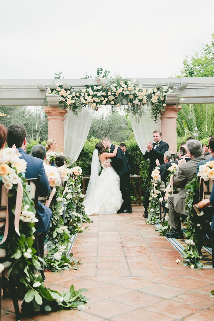 Carly and Kevin exchanged personalized vows on the Sunset Patio at Rancho Valencia in Rancho Santa Fe, California.