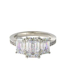 James Allen Glamorous Emerald, Radiant Cut Engagement Ring