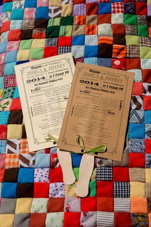 Brown Paper Ceremony Program Fans