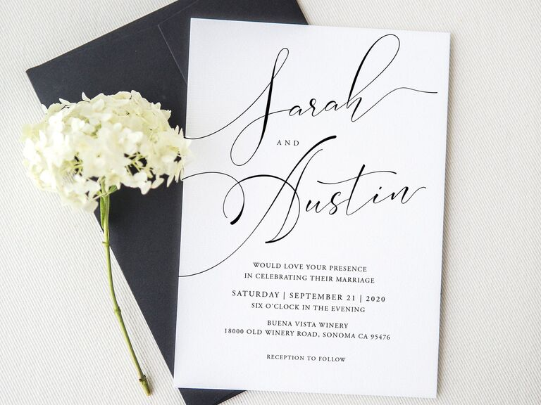printable wedding invitation template with calligraphy