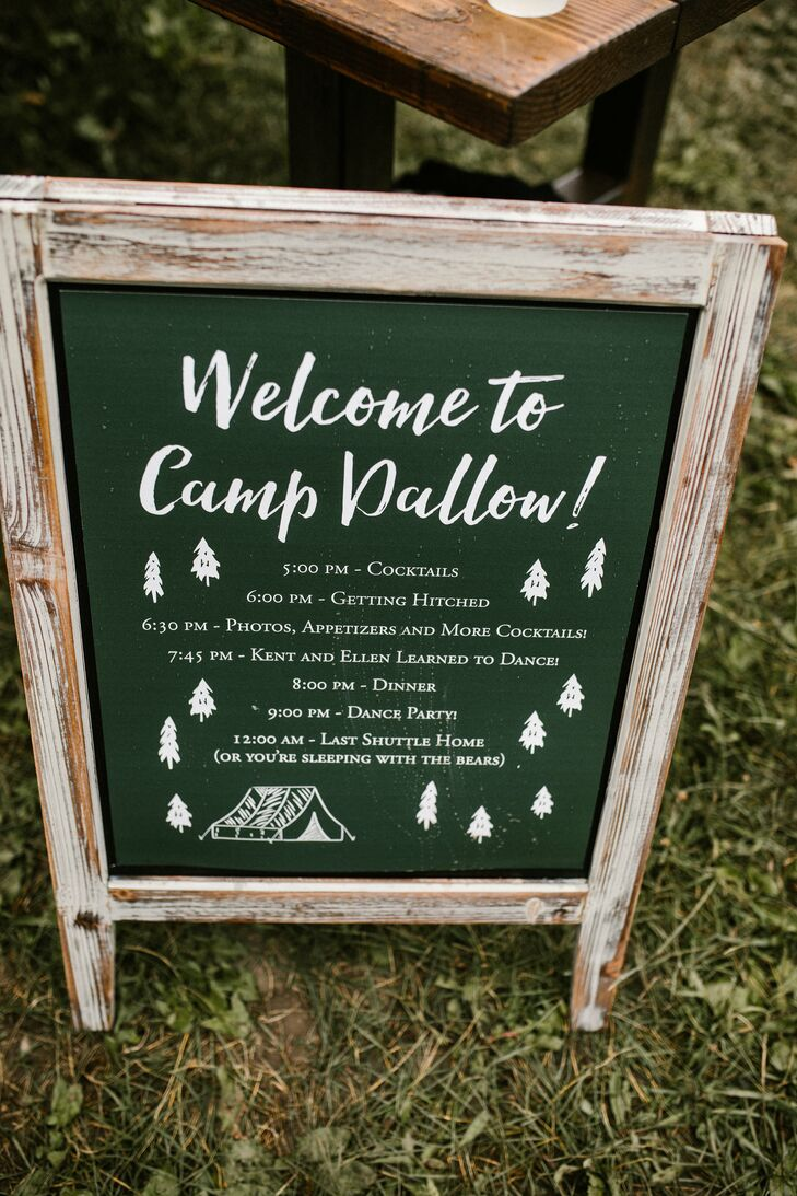 Rustic Wood Welcome Sign with Calligraphy