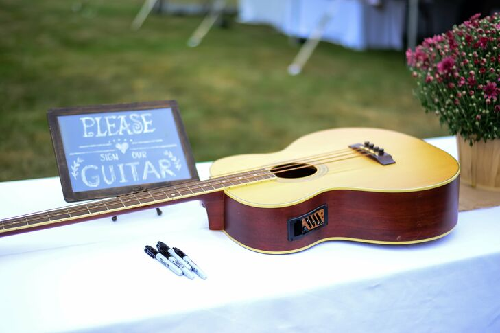 Acoustic Guitar Guest Book at The Country Loft