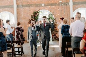 Same-Sex Couple Recessional at Brick in San Diego, California