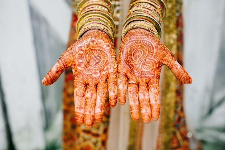 Traditional Mehndi and Gold Bracelets