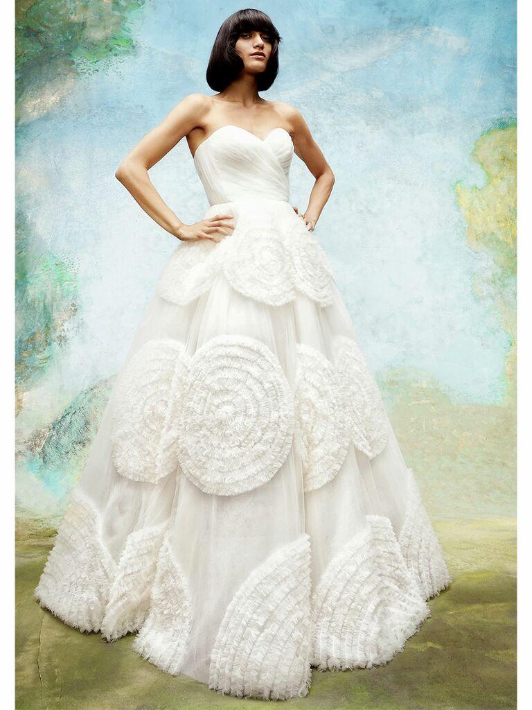 Viktor&Rolf wedding dress floral tulle ball gown