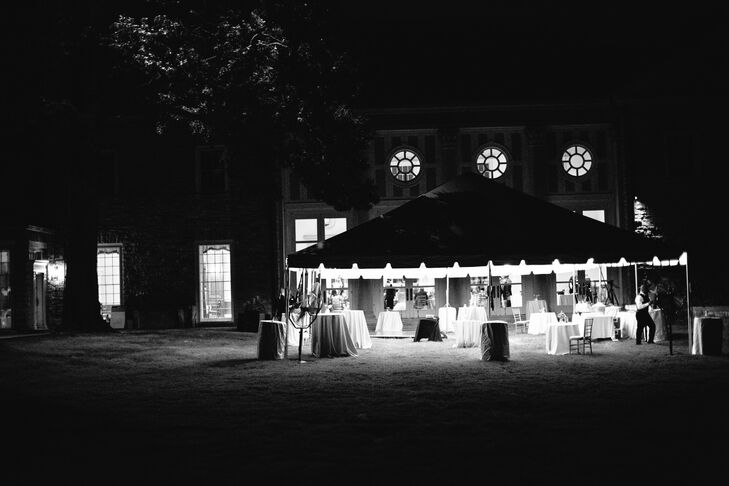 Dancing took place on the main lawn under a white tent at Cheekwood Botanical Gardens in Nashville, Tennessee.