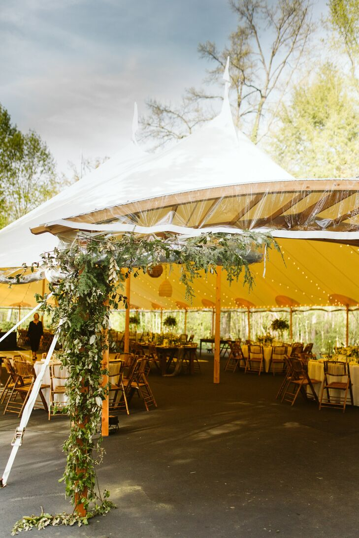 Natural Reception Tent with Greenery