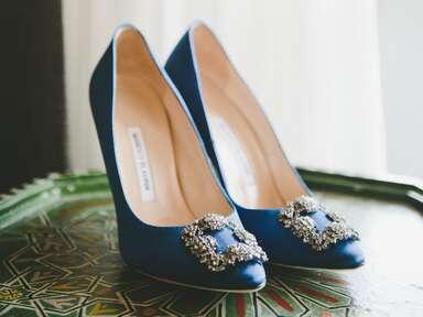designer blue wedding shoes