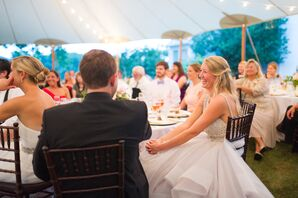 Bistro Lighting at Tented Reception