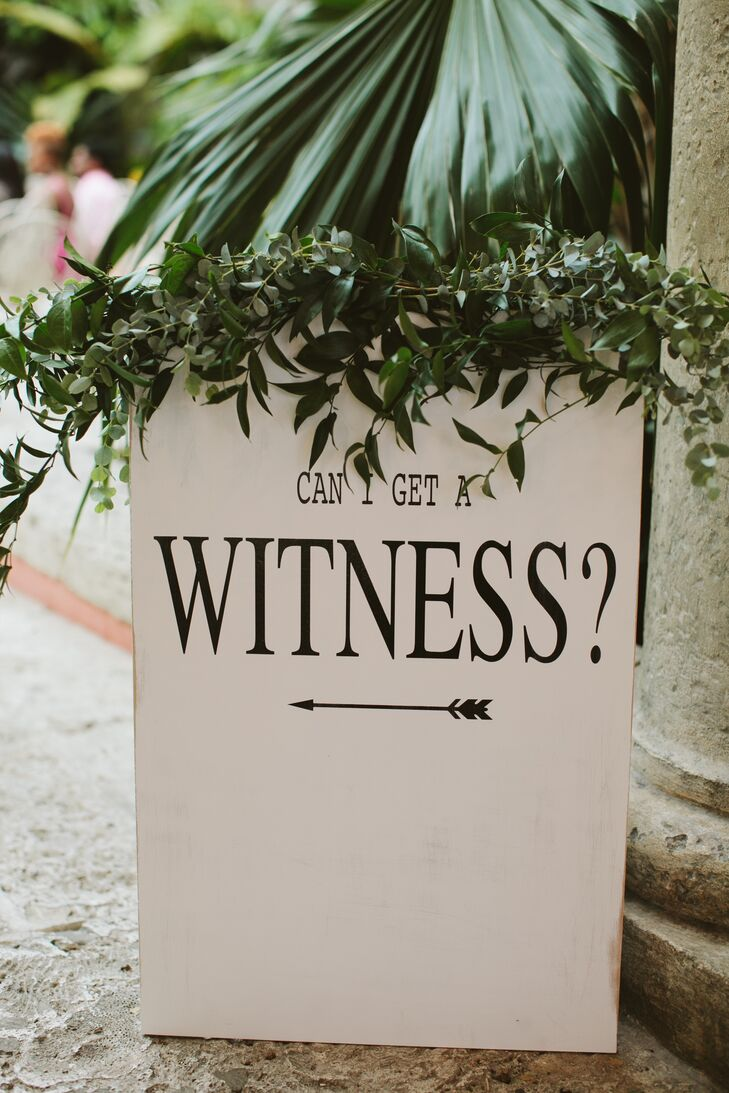 Playful Ceremony Sign