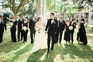 Different Style Black-and-White Wedding Party