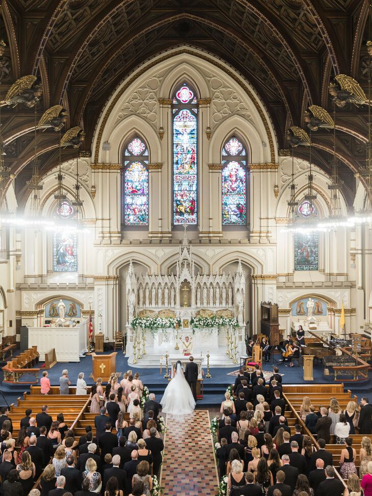 Formal Church Wedding Ceremony in Boston