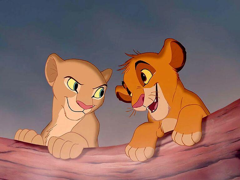 Simba and Nala famous disney couples