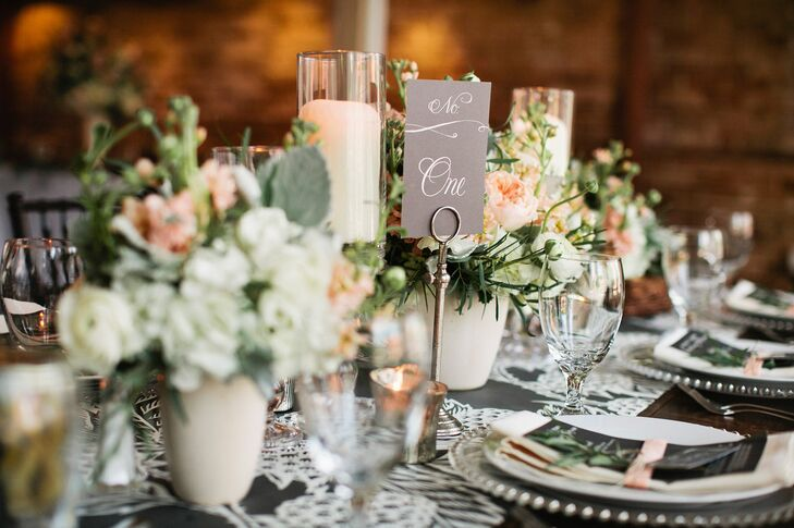 Elegant Black-and-White Table Numbers
