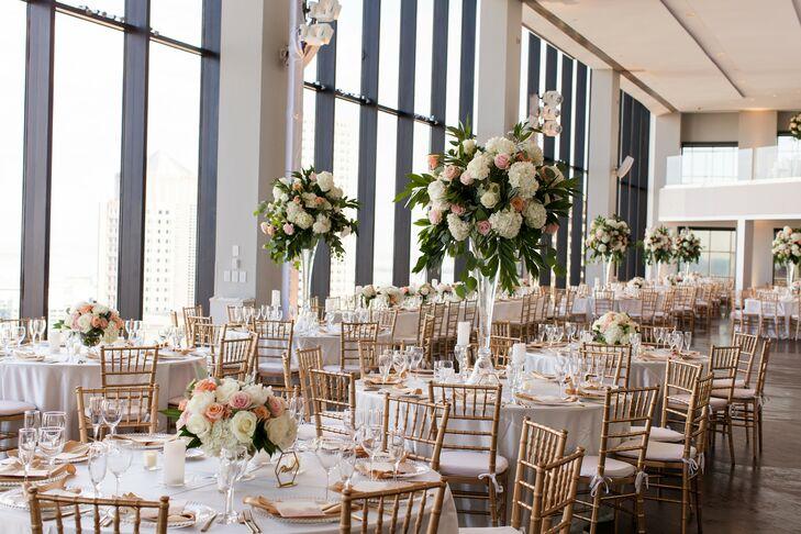 Classic Penthouse Wedding Reception in Boston